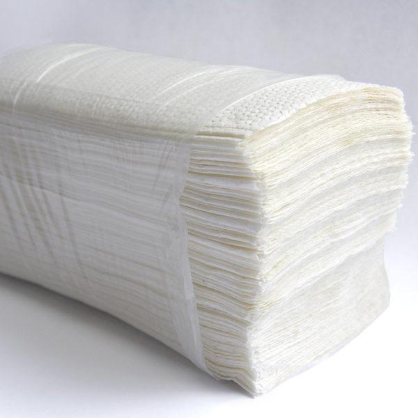 Листовые бумажные полотенца V-сложения белые
