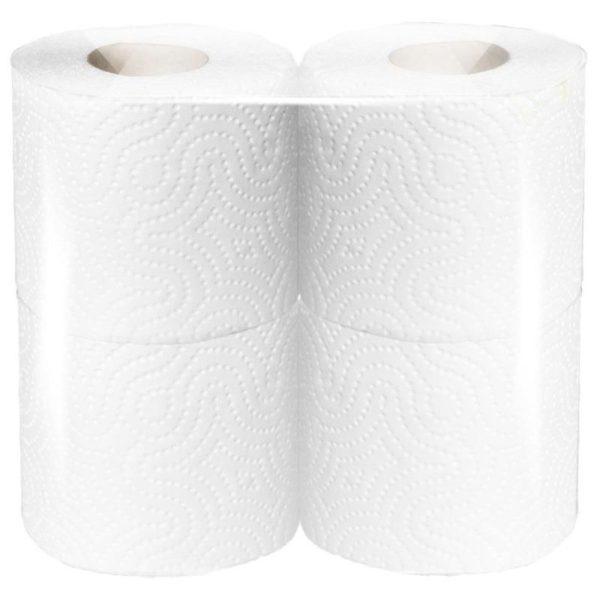 туалетная бумага белая бытовая